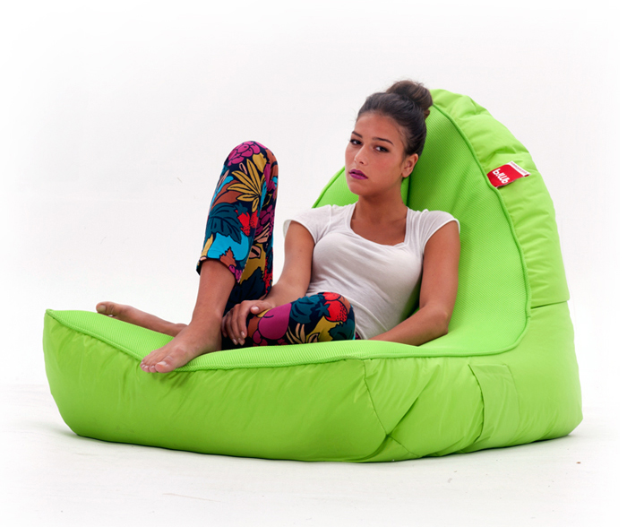 The Coolio Lime Bean Bag VIP Sofa And Ottoman Takes Couch Surfing And  Gaming To An Uber Level Of Comfort.
