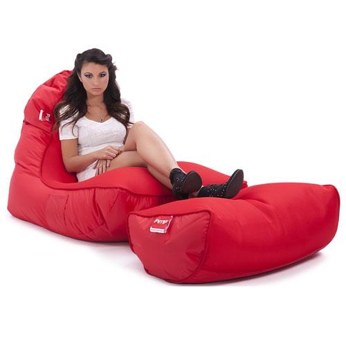 pimp v i p bean bag sofa street cred red bean bags. Black Bedroom Furniture Sets. Home Design Ideas
